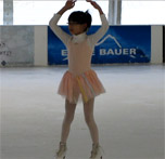 Claire skating to the Nutcracker Suite at the Bellevue Outdoor Arena on New Year's Eve, 2010.
