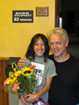Claire and I at the Village Theater after her summer camp peformance of Camp Rock. She was amazing!