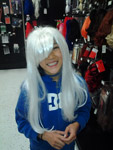 Fun with wigs at the party store!