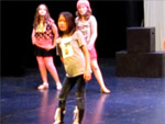 Claire in the summer camp performance of Camp Rock at the Village Theater in Issaquah.