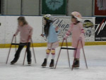 Claire, Tiffany and Alexandra burning up the ice.