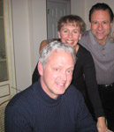 With my sister Cami and brother-in-law Mark at my Moms. Thanksgiving 2010.