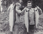 With my dad in 1976 at the Skagit River after one of the best days of steelheading in my life. 10 lbs., 15 lbs., and a prime 20 lb. buck.