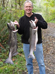 Me with a 13 lb. silver and a 26 lb. king from the Olympic Peninsula.